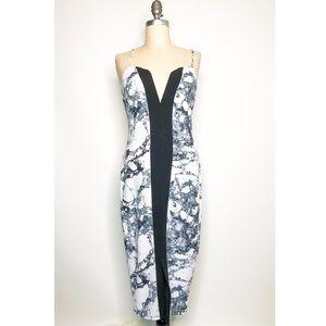 Marble Stretch BodyCon Dress Medium